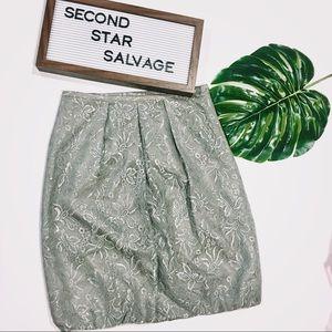 ⭐️ Loft Silver Lace Bubble Skirt